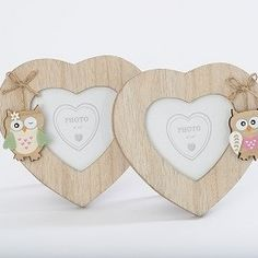 Wooden Owl Photo Frames 2 Assorted Price: 5.25 GBP