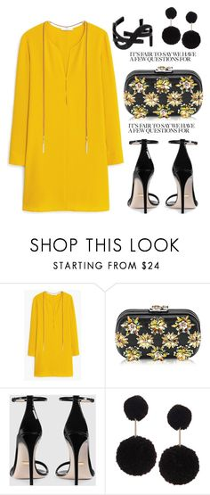 """""""Untitled #3606"""" by janicemckay ❤ liked on Polyvore featuring MANGO, Corto Moltedo, Gucci, Humble Chic and Yves Saint Laurent"""