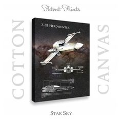 Star Wars Z-95 Headhunter Canvas Patent Print