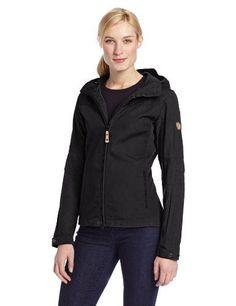 68878f69a Fjallraven Womens Stina Jacket Black XXSmall >>> Click image for more  details.(. Casual Coats For WomenJackets ...