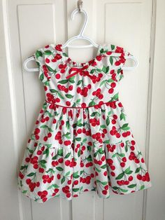 Size 4 Red Cherries Peasant Dress by DoloresAndCompany on Etsy, $38.00