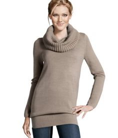 H Cowl-neck Sweater $24.95  Beige, Black, Dark Blue, Dark Green, Light Beige