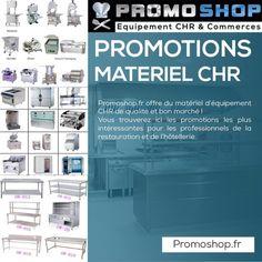 http://promoshop.fr/promotions Promoshop.fr offre du matériel d'équipement CHR de qualité et bon marché ! Vous trouverez ici les promotions les plus intéressantes pour les professionnels de la restauration et de l'hôtellerie.