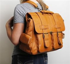 LONDON Backpack - Burnt Orange camera bag