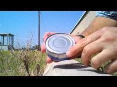 How to open a can without having a can opener. Perfect for survival, camping, traveling or the zombie apocalypse! Camping Survival, Survival Prepping, Emergency Preparedness, Survival Skills, Survival Gear, Survival Hacks, Survival Quotes, Wilderness Survival, Camping Hacks