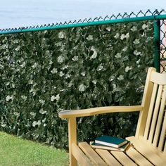 Use this Faux Ivy Privacy Screen to add an instant natural beauty to your deck, patio or garden. This decorative fencing consists of green plastic netting with vines of faux English ivy for a hedge look. Front Yard Fence, Fenced In Yard, Low Fence, Lattice Fence, Fence Gate, Outdoor Privacy Panels, Privacy Screens, Fence Panels, Backyard Fences