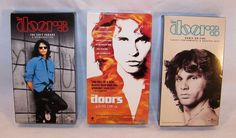 The Doors VHS - Lot of 3 Tapes - Dance On Fire / The Soft Parade / Oliver Stone