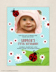 lady bug birthday invite
