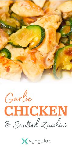 healthy Garlic Chicken & Sauteed Zucchini recipe approved for the Jumpstart and Low Carb meal plans.A healthy Garlic Chicken & Sauteed Zucchini recipe approved for the Jumpstart and Low Carb meal plans. Healthy Low Carb Recipes, Low Carb Dinner Recipes, Diet Recipes, Dessert Recipes, Diet Meals, Diet Foods, Diet Tips, Healthy Meals, Soup Recipes