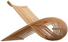 """wooden chair"", design Marc Newson, 1992, natural beech heartwood, made in Italy by Cappellini"