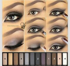 """Eye Makeup - """"A Saturday evening tutorial for this intense eye using the Naked Smoky palette. This placement of the shadow helps to create an…"""" - Ten Different Ways of Eye Makeup Eye Makeup Tips, Smokey Eye Makeup, Skin Makeup, Eyeshadow Makeup, Makeup Ideas, Summer Eyeshadow, Makeup Tutorials, Eyeshadow Tutorials, Eye Brows"""