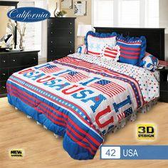 Sprei Set (King 180×200) motif USA Premium Lembut. Takut tidak sesuai Ukuran (kekecilan/kebesaran) ??? Kami beri garansi 30 Hari. 3d Design, My Dream, Comforters, Blanket, Bedroom, Home, Creature Comforts, Quilts, Bed Room