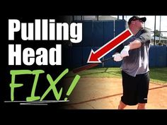 In this video we talk about how to fix one of the most common problems in baseball hitting which is pulling the head out. So many hitters have trouble keepin. Baseball Hitting Drills, Softball Drills, Softball Coach, Fastpitch Softball, Softball Stuff, Baseball Tips, Better Baseball, Baseball Mom, Baseball Stuff