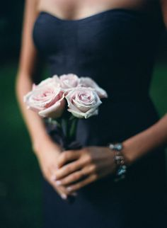 Very small... perfect for the bridesmaid. small rose bouquet, love it