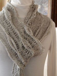 Ravelry: Long Leaves Scarf pattern by Grace Mcewen
