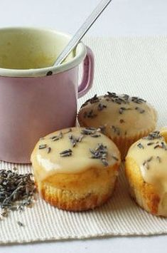 Lavender Muffins are light, delicate dessert that is easy to make and nice looking - 2pots2cook.com