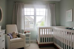 Such a simple and pretty color scheme for a twin nursery.... Especially if you aren't sure what you're having!
