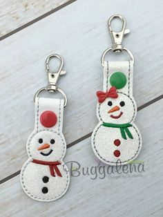 Bean Stitch - Snowman key fob freebie
