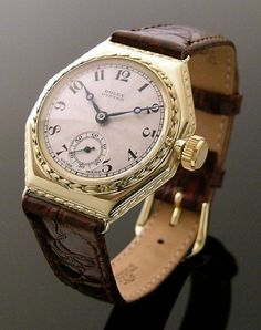 An early gold Rolex Oyster wristwatch,circa Cool Watches, Watches For Men, Unique Watches, Wrist Watches, Vintage Rolex, Vintage Watches, Luxury Watches, Rolex Watches, Gold Rolex