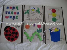 Nap Time Journal: Quiet Book Pages.....you asked for them!