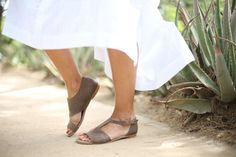 CIJ 20% Sale Brown Leather Sandals Handmade Sandals by abramey