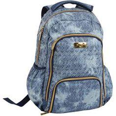 Mochila Escolar Jeans Étnico Capricho - Dmw