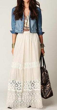Lovely Demure Lace Maxi Skirt