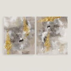 Touch of Gold I and II Wall Art