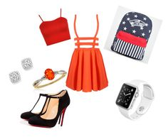 """Untitled #125"" by kristinakotenko on Polyvore featuring WearAll, Christian Louboutin, Vans, Bloomingdale's and Belk & Co."