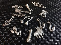 Music necklace Musical jewelry Treble clef Charms
