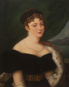 Queen Caroline of Naples, née Bonaparte Adele, First French Empire, Naples, Napoleon Josephine, French Royalty, European Dress, Court Dresses, European Paintings, Empire Style