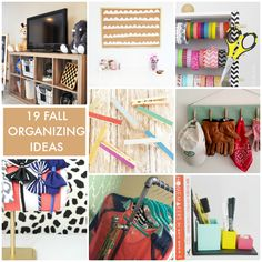 19 Fall Organizing Ideas! SO many great ideas to get you organized! -- Tatertots and Jello