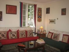 Indian living room in a rental place in usa