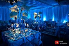 blue flowers for centerpieces - Google Search