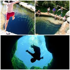 Jacob's Well, Texas ~This bottomless pit is the mouth of a vast underwater cavern where you can dive into the same refreshing spring water as the earliest American settlers..