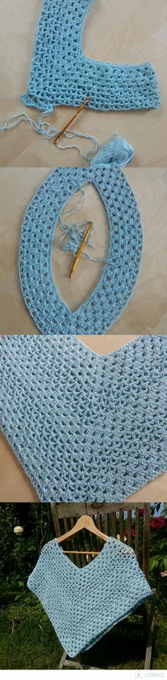 Hot Off My Hook! Project: Cowl Neck Poncho Started: 14 Jan 2016 Completed: 16 Jan 2016 Model: Madge the Mannequin Crochet Hook(s): Cowl portion, K, Granny Crochet Poncho With Sleeves, Crochet Shawl Free, Crochet Jacket, Crochet Scarves, Crochet Motif, Crochet Crafts, Crochet Yarn, Crochet Clothes, Crochet Patterns