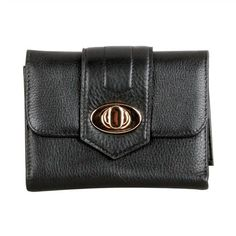 Karla Hanson - Black Women's Wallet - $54.99/each This Ladies Fashion Wallet is made from cow leather with a golden finish, approximately 13 x 2 x 10.5 cm. Presented by  www.ecomcreator.com Fashion Wallet, Ladies Fashion, Womens Fashion, Wallets For Women Leather, Cow Leather, Continental Wallet, Leather Wallet, Lady, Feminine Fashion