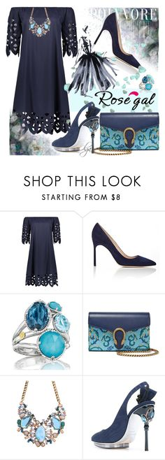 """Blue Day 1"" by olga1402 ❤ liked on Polyvore featuring Manolo Blahnik, Tacori, Gucci and Oscar de la Renta"