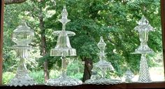 some more of the glass totems i made. summer 2014. they sure are pretty. Deb Hall