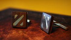 Dota Cufflinks - Brass; Wood