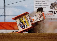 I think he might be going to the wrong way. Sprint car.