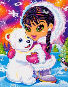 Eskimo and polar bear by Lisa Frank Lisa Frank Stickers, Sketch Painting, British History, Tudor History, 90s Kids, Wallpaper Backgrounds, Wallpapers, Fairy Wallpaper, Animals