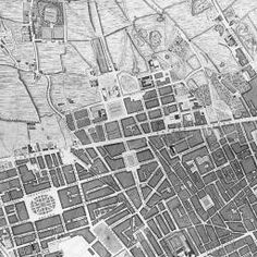 Building on a fully GIS compliant version of John Rocque's 1746 map of London, this site allows you to relate an eighteenth-century representation of the metropolis to the first accurate OS map of London (1869-80), and to a modern Google Maps environment. http://www.locatinglondon.org/index.html