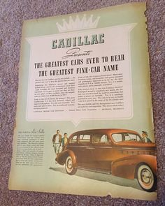 A personal favorite from my Etsy shop https://www.etsy.com/listing/253617038/cadillac-vintage-ad