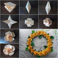 Origami rosas Más