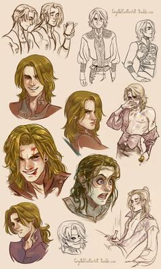 (Mostly) Feneon Sketches by CrystalCurtis.deviantart.com on @deviantART