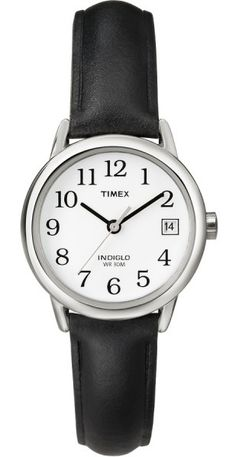 c2fb0e656 Timex Indiglo Easy Reader T2H331 Women's Casual Leather Watch
