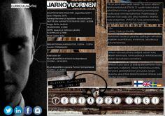 Curriculum Vitae Jarno Vuorinen by JarnoVuorinen via slideshare