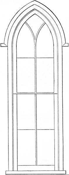 Gothic Church Windows Clip Art - The Graphics Fairy