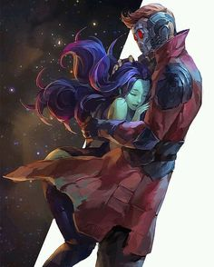 Will we see them reunited in Avengers Star-Lord & Gamora. Will we see them reunited in Avengers Marvel Avengers, Marvel Memes, Deadpool X Spiderman, Avengers Fan Art, Marvel Fan Art, Captain Marvel, Starlord And Gamora, Gamora Marvel, Gamora Comic